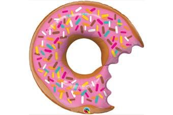 Qualatex 36 Inch Supershape Bite Donut Foil Balloon (Pink) (36 inch)