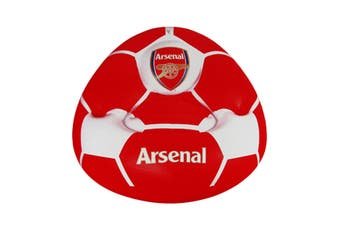 Arsenal FC Childrens/Kids Official Football Club Inflatable Chair (Red/White) (One Size)