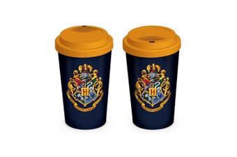 Harry Potter Ceramic Travel Mug (Blue/Yellow) (One Size)