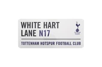 Tottenham Hotspur FC Official White Hart Lane Metal Football Club Street Sign (White/Black/Navy) (One Size)