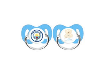 Manchester City FC Baby Soothers Pack Of 2 (Multicoloured) (One Size)