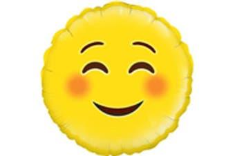 Oaktree Betallic 18 Inch Foil Smile Emoji Balloon (Yellow) (18 inches)
