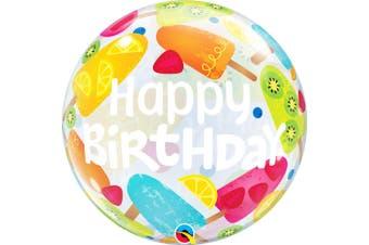 Qualatex 22 Inch Birthday Frozen Treats Bubble Balloon (Multicolour) (22 inches)