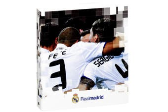 Real Madrid FC Official A5 Hardback Football Crest Folio Ring Binder (Pack Of 2) (Multicoloured) (A5)