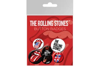 The Rolling Stones Pin Button Badges (Pack of 6) (Multicoloured) (One Size)