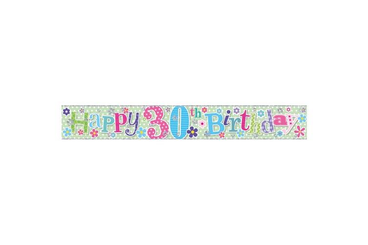 Simon Elvin Female Happy Birthday 2.5m Foil Banner (Age 30) (1 Banner)