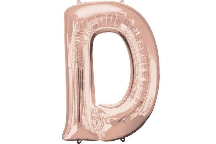 Anagram Mini Shape 16 Inch Rose Gold Number/Letter Balloon (Rose Gold) (H)