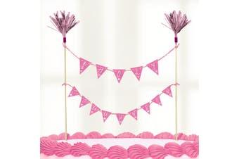 Amscan Holy Communion/Christening Cake Pick Decoration (Pink Holy Communion) (23x24cm)
