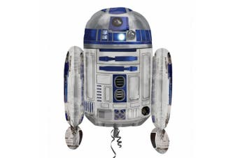 Anagram Supershape Star Wars R2-D2 Foil Balloon (White/Blue) (55 x 66cm)