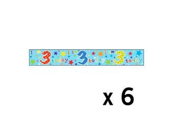 Simon Elvin Foil Banner Age 3 x 6 (Multi-colour) (One size)