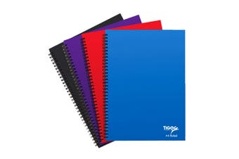 Tiger Stationery Ring Bound Notebooks (Black/Blue/Red/Purple) (A4)