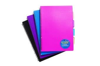 Tiger Stationery Ring Bound Notebooks (Black/Blue/Pink/Purple) (A6)