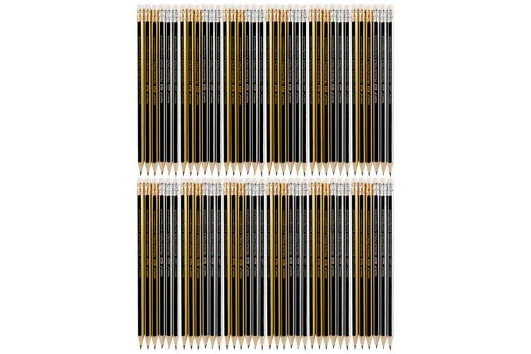 Tiger Stationery Premium Eraser Tip HB Pencils (Multicoloured) (One Pack of 6)