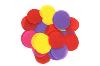 Oaktree Tissue Flame Retardant Round Paper Confetti (Multicoloured) (One Size)