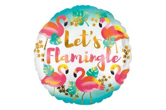 Anagram 18in Lets Flamingle Round Foil Balloon (Multicoloured) (18in)