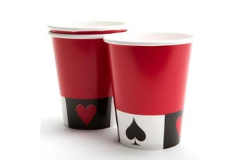 Creative Converting 8 Cards Night 9oz Party Cups (Red/White/Black) (9oz)