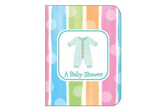 Creative Converting Baby Shower Invitations With Envelopes (Pack of 8) (Multicoloured) (One Size)
