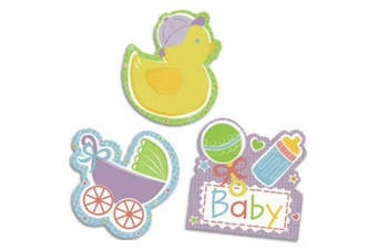 Amscan Baby Shower Cut-Out Decorations (Multicoloured) (One Size)