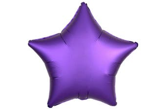 Anagram 18in Satin Luxe Foil Balloon (Purple Royale) (Heart)
