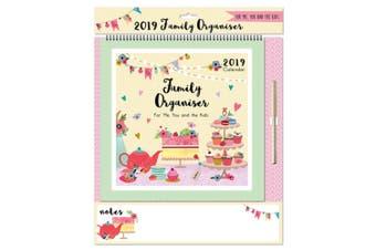 Tallon 2019 Family Organiser Cupcakes Calendar With Pen (Cupcakes) (One Size)