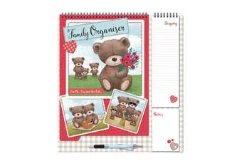 Tallon 2019 Big Bear Family Organiser With Shopping List & Pen (Heart Bear) (One Size)