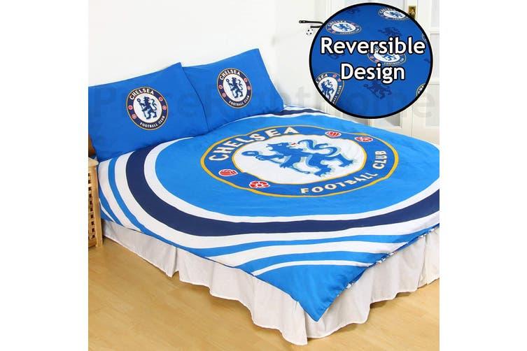 Chelsea FC Reversible Pulse Duvet Set (Blue) (Double)