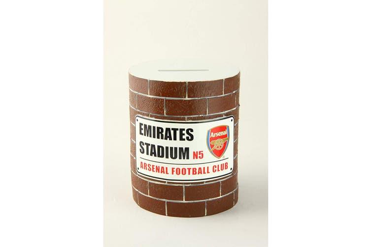 Arsenal FC Brick Wall Money Box (Multicoloured) (One Size)