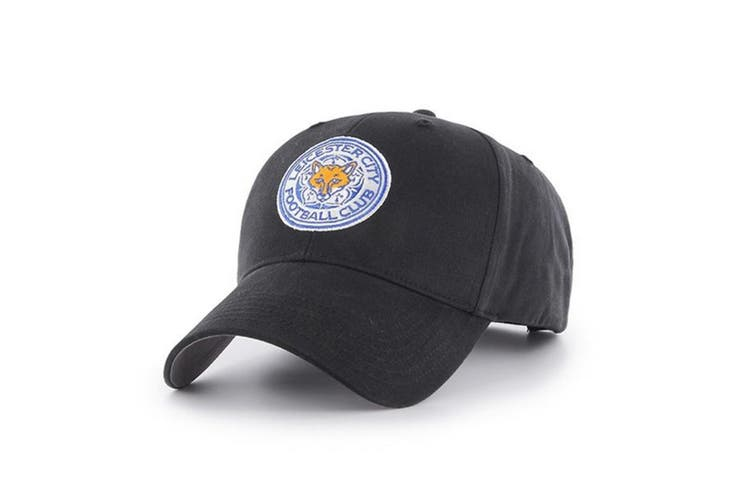 Leicester City FC Baseball Cap (Black) (One Size)
