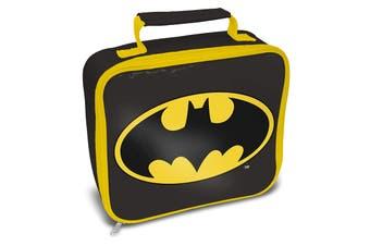 Batman Logo Lunch Bag (Black/Yellow) (One Size)