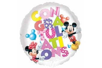 Anagram 18in Mickey And Minnie Congratulations Foil Balloon (Multicoloured) (One Size)