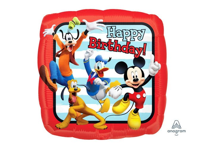 Anagram 18in Mickey And Friends Happy Birthday Foil Balloon (Multicoloured) (One Size)