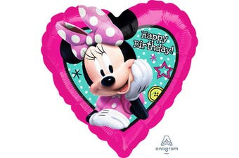 Anagram 18in Minnie Mouse Happy Helper Foil Balloon (Pink) (One Size)