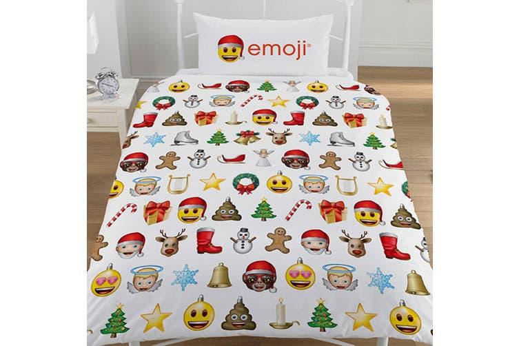 Emoji Christmas Reversible Duvet Set (Multicoloured) (Double)
