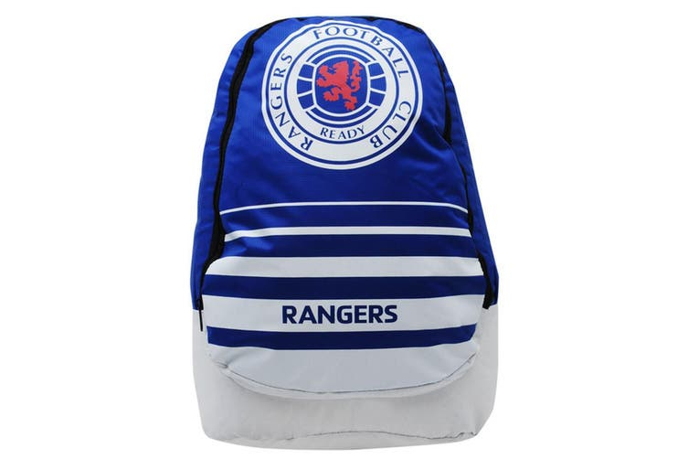 Rangers FC Official Swoop Backpack (Blue/White/Red) (One Size)