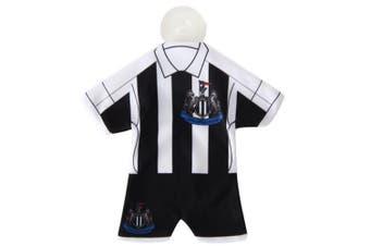 Newcastle United FC Official Mini Kit Hanger (Black/White) (One Size)