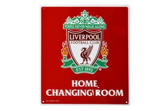 Liverpool FC Official Home Changing Room Sign (Red/White) (One Size)