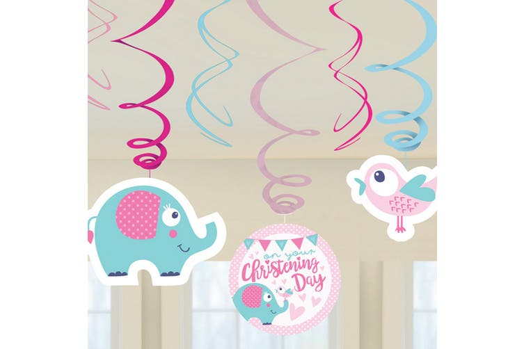 Amscan On Your Christening Day Swirls Decorations (Pink/Blue) (One Size)