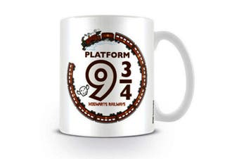 Harry Potter Official Platform 9 3 / 4 Ceramic Mug (White/Brown) (One Size)