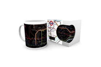 London Underground Map Ceramic Mug (Multicolour) (One Size)