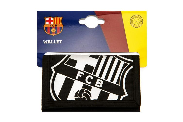 FC Barcelona React Wallet (Black/White) (One Size)