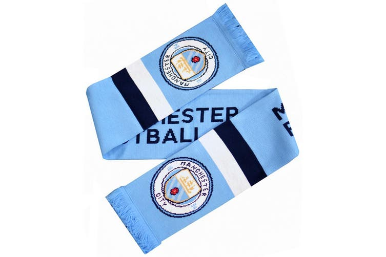 Manchester City Stripe Scarf (Light Blue) (One Size)