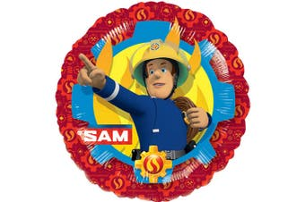 Anagram 18 Inch Fireman Sam Circle Foil Balloon (Multicoloured) (One Size)