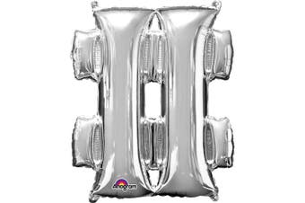 Anagram Supershape 34 Inch Punctuation Balloon (Silver) (Question Mark)
