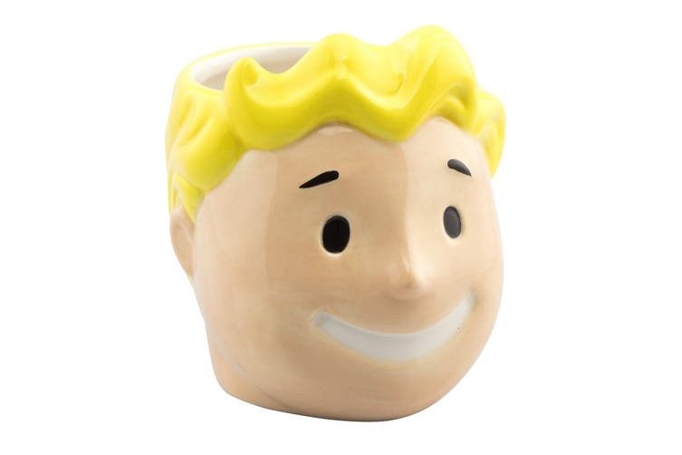 Fallout Vault Boy 3D Mug (Yellow) (One Size)