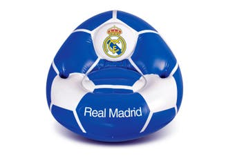Real Madrid Inflatable Chair (White/Blue) (One Size)
