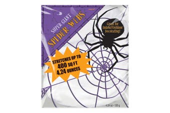 Amscan Halloween Stretchable Spiders Web (White) (240g)