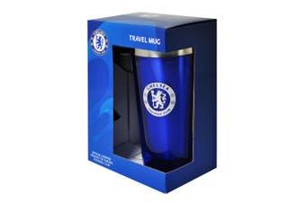 Chelsea Boxed Aluminium Travel Mug (Blue) (450ml)