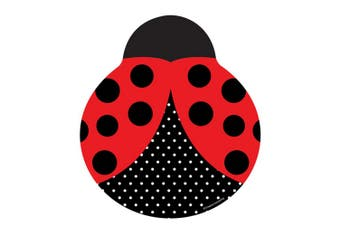 Creative Converting 9in Ladybird Shaped Plates (Pack Of 8) (Red/Black/White) (9in)