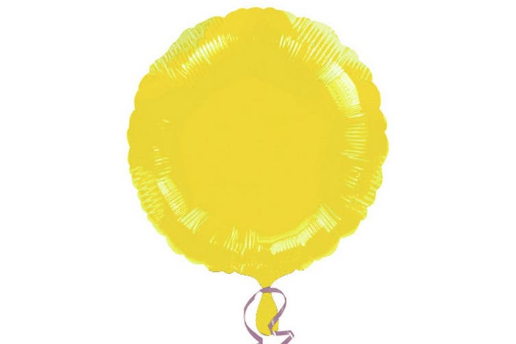 Anagram 18in Round Foil Balloon (Pack Of 10) (Yellow) (18in)