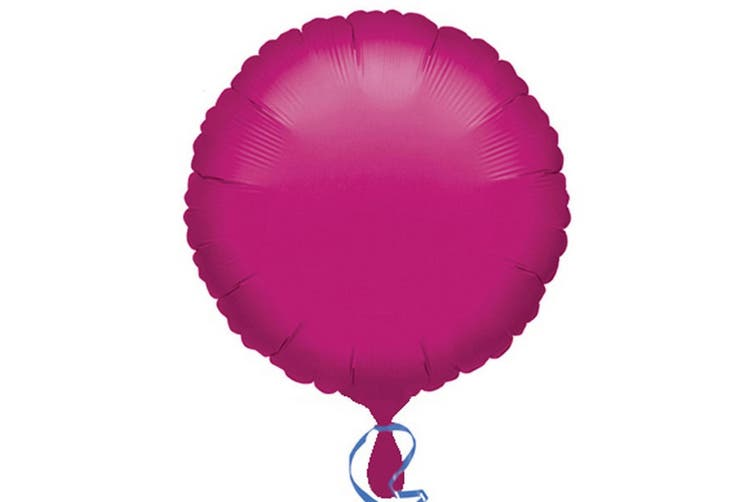 Anagram 18in Round Foil Balloon (Pack Of 10) (Fuchsia) (18in)